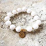 Náramky - Čistá ako alabaster: Náramok s alabastrom a hematitom - 13835155_