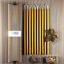 Svietidlá a sviečky - Vysoké tenké máčané Sviečky z včelieho vosku - 10 ks v darčekovej krabičke - 13836416_