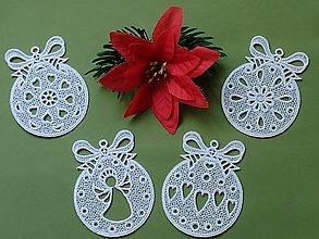 Dekorácie - Vianočné krajkové gule - 13835165_
