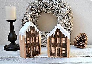Dekorácie - Drevené domčeky - zimné - 13835033_