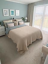 Úžitkový textil - Ľanový waflový prehoz na posteľ - extra veľký - 13835157_