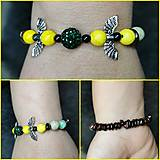Náramky - Náramok s krídlami žltý - 13835370_