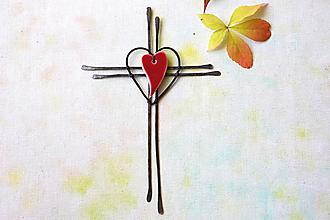 Dekorácie - nástenný krížik * 21 cm - 13834986_