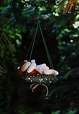 Dekorácie - spiaca Víla / Vianočná ozdoba - 13835325_