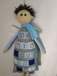Hračky - Adventný kalendár v tvare anjela chlapec - 13838154_
