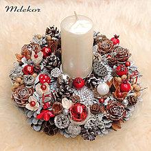 Dekorácie - Vianočný svietnik - 13837875_