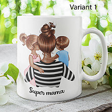 Nádoby - SUPER MAMA keramický hrnček - 13839461_