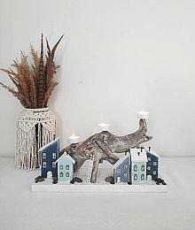 Svietidlá a sviečky - Svietnik ,, Pod šedým útesom,, - 13843838_