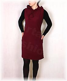 Šaty - Šatovka  s kapucí fleece - 13844124_