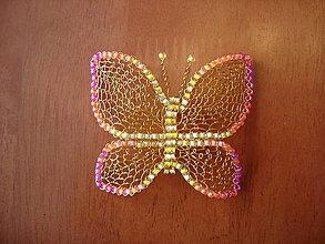 Brošne - Motýlik - 13841895_