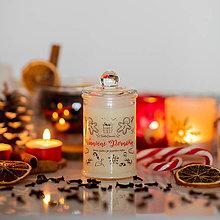 Svietidlá a sviečky - POSLEDNÉ KUSY - Sviečka zo sójového vosku v skle - Vianočné Perníčky - 13842102_