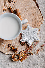 Dekorácie - Vianočné medovníky- sivé  - 13842103_