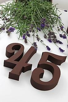 Tabuľky - Popisné číslo: Samostatná číslica Oval - 13842242_