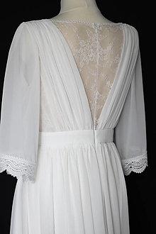 Šaty - Jednoduché svadobné šaty s krajkou na chrbáte - 13840967_
