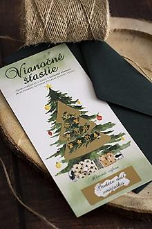 """Papiernictvo - Vianočný žreb """"Vianočné šťastie"""" - Vnúčatko - 13842852_"""