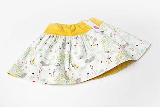 Detské oblečenie - Sukňa s mačičkou - 13844624_