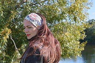 Ozdoby do vlasov - Outdorová čelenka z funkčného úpletu - biela - 13840696_