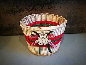 Košíky - Malý vianočný košík (Vzor 1) - 13842914_