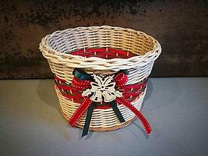 Košíky - Malý vianočný košík (Vzor 2) - 13842925_