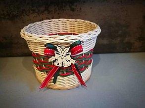Košíky - Malý vianočný košík (Vzor 3) - 13842952_