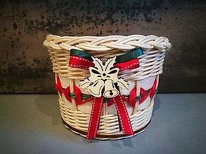 Košíky - Malý vianočný košík (Vzor 4) - 13842978_