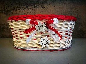 Košíky - Oválny vianočný košík - 13843328_