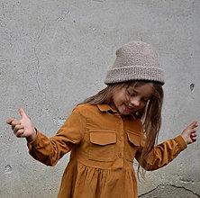 Detské čiapky - Čiapočka...béžo - 13842507_