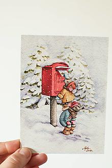 """Papier - Pohľadnica """"Myšičky posielajú pozdrav"""" - 13844431_"""
