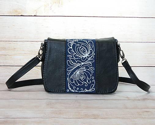 Modrotlačová kožená kabelka Eliška AM 4