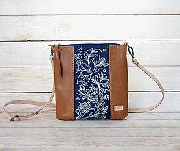 Kabelky - Modrotlačová  kožená kabelka Dara AM 8 - 13840750_