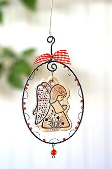 Dekorácie - jesenný anjelik - 13844194_