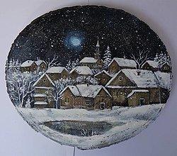 Obrazy - Na dedinku tíško sneží... - 13847212_