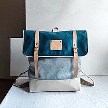 Batohy - Aktovkový Batoh Olivia (turquoise) - 13846484_