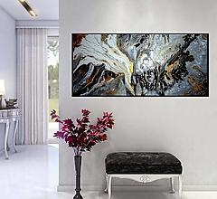 Obrazy - Abstrakt AQ 100x40 - 13848613_