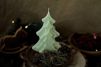 Svietidlá a sviečky - Strom - stromček (Jabĺčkovo zemená) - 13848099_