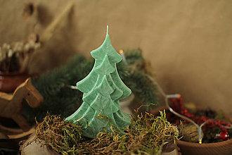 Svietidlá a sviečky - Strom - stromček (Zelená) - 13848107_