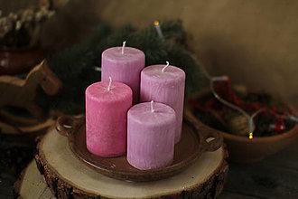 Svietidlá a sviečky - TRADIČNÉ adventné sviečky - pastelové farby - 13848155_