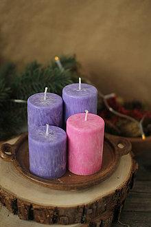 Svietidlá a sviečky - TRADIČNÉ adventné sviečky - 13848174_