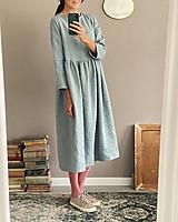 Šaty - Ľanové šaty SOPHIA dlhé - 13848027_