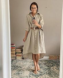Šaty - Dámske ľanové šaty SCARLETT - 13847969_