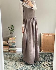 Šaty - Dámske ľanové tielkové šaty ELENA na mieru - 13848300_