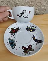 Nádoby - Šálka Motýle  - 13845401_
