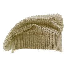 Čiapky, čelenky, klobúky - Francúzska baretka - bledo hnedá - 13846306_