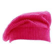 Čiapky, čelenky, klobúky - Francúzska baretka - cyklámenová - 13846491_