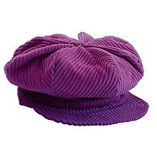 Čiapky, čelenky, klobúky - Baretka so šiltom - fialová - 13848263_