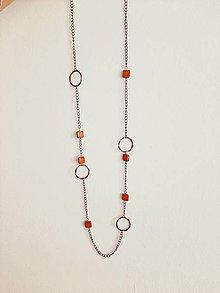 Náhrdelníky - Retiazkový dlhý náhrdelník RUTT - 13849611_