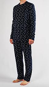 Oblečenie - Pánske pyžamo rybky z biobavlny - 13847269_