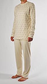 Oblečenie - Pánske pyžamo ovečky z biobavlny - 13847290_