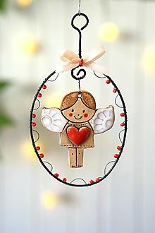 Dekorácie - anjel so srdiečkom - 13847295_