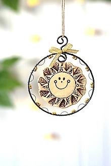 Dekorácie - zlaté slnko - 13848752_